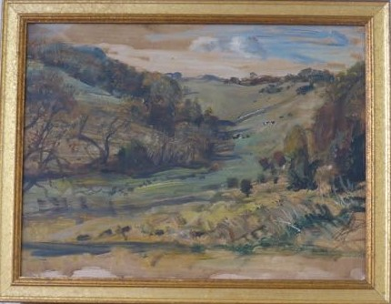 West Kington board framed 18x14in
